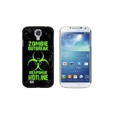 Zombie Outbreak Response Hotline Green Distressed – Snap On Hard Protective Case for Samsung Galaxy S4 – Black