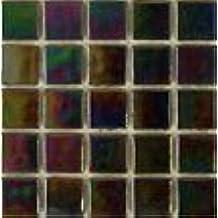 "3/4"" Iridescent Glass Tile - K 55 Raku - 1 lb bag Hakatai Brand Mosaic Tile"