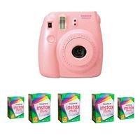 Fujifilm Instax Mini 8 Camera, 62x46mm Picture Size, Pink -