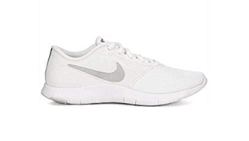 Nike Women s Flex Contact Running Shoe, White Metallic Silver-Particle Pink, 6.5