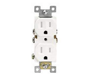 Electrical Industries Tamper Resistant Standard Duplex Receptacles 15A/125V White