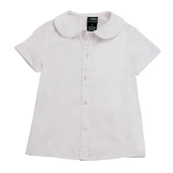 French Toast School Uniforms Short Sleeve Peter Pan Blouse (Feminine Fit) Girls (White, 20)