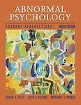 Abnormal Psychology: Current Perspectives by Alloy, Lauren B. Published by Mcgraw-Hill (Tx) 9th (ninth) edition (2004) Hardcover