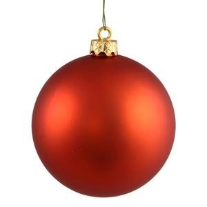 Vickerman Drilled UV Matte Ball Ornaments, 2.75-inch, Burnished Orange, 12-Pack by Vickerman