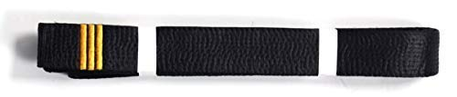 Kick Boxing Shihan 3 Dan Bar Negro Cintur/ón Satinado Todos los Estilos de Artes Karate Master Kempo 320cm para Hombre//Mujer Karate Goju Ryu Shito-Ryu Shotokan Oro Barra