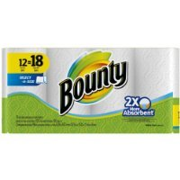 Bounty Select-A-Size Paper Towels, White, Giant Rolls-12 ct