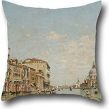 Oil Painting Federico Del Campo - View Of The Grand Canal Of Venice Pillow Shams 20 X 20 Inch / 50 By 50 Cm Best Choice For Floor,home Theater,lover,bar,couples,bar Seat - Venice Futon