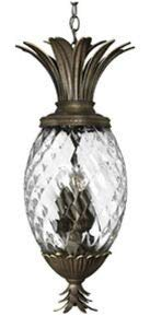 Hinkley 2222PZ Leaf, Flower, Fruit Four Light Pendant Foyer from Plantation collection in Bronze/Darkfinish,