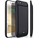 iPhone 6S Plus/6Plus carcasa de batería, stoon 7200mAh carcasa con cargador de portátil recargable batería extendida copia de seguridad de carga protectora Case Cover para Apple Iphone 6s Plus/6Plus (5.5inch) (Negro)