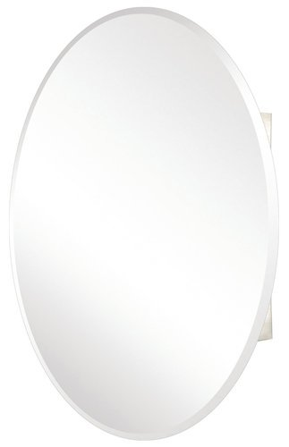 Pegasus Oval Beveled Mirror 24W x 36H in. Medicine Cabinet SP4583 by Pegasus