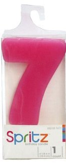 Spritz Molded # 7 Birthday Candle Pink (1 Count)