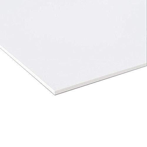 Panneau de plaque Forex PVC blanc /épaisseur 5 mm 100 x 50 cm blanc Forex blanc PVC blanc