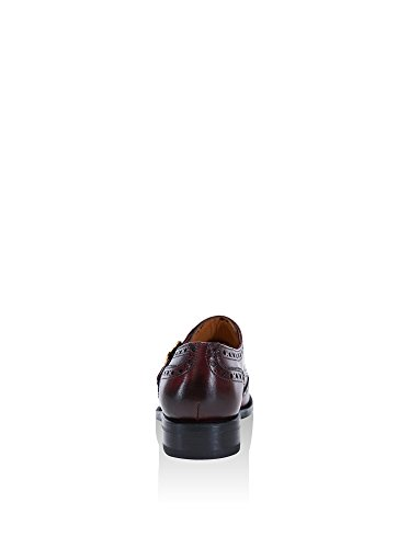 British Passport Zapatos Monkstrap Wing Cap Burdeos EU 38