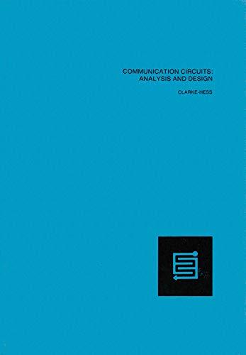 Communication Circuits: Analysis and Design
