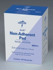 Curad Sterile Non-Adherent Pad 3 x 4 Inches Case of 1200 by Medline