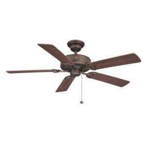 Hampton Dark Walnut Wood - Hampton Bay Farmington 52 in Bronze Ceiling Fan