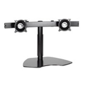Chief Ktp220b Dual Horizontal Monitor Table Stand . Up To 35Lb Flat Panel Display . Black