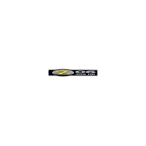 Eckler's Premier Quality Products 25114922 Corvette Z06 Fender Emblem Decal 405hp Silver/Black/Yellow (Emblem Z06)