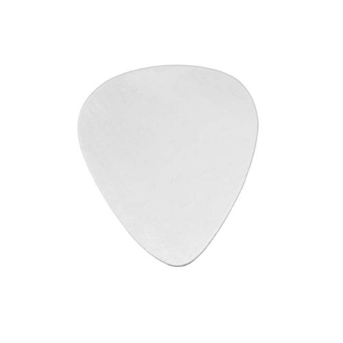 Beadaholique Sterling Silver 'Guitar Pick' No Hole Blank Stamping, 30.5 x 25.5mm