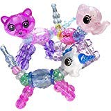 Ewong Animal Twist Bracelets for Girls, 3 Pack Magical Pets Snap Bracelets for Kids, Changeable Pull...