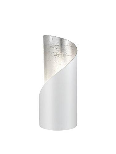 Reality Frank Sobremesa E14, Blanco Matt/Silberfarbig, 10 x 10 x 24 cm
