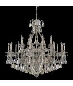 Schonbek 6962-86GS Sophia 24 Light Large Foyer Chandelier in Midnight Gild with Swarovski Strass Golden Shadow crystal