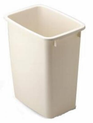 Rubbermaid FG280500BISQU 21 Qt Bisque Wastebaskets (6-Pack) by Rubbermaid