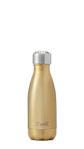 S'well Vacuum Insulated Stainless Steel Water Bottle, Double Wall, 9 oz, Sparkling (Glitter Champagne Bottles)