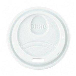 Dixie Plastic Dome Lids (DXE9538DXPK - Dixie WiseSize, Fits 8 Ounce Hot Drink Cups, White, 100 Lids)