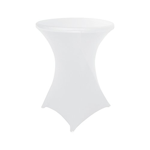 Haorui 30 inch Highboy Cocktail Round Fitted Stretch Spandex Table Cover Cloth for Party Wedding - 30 Bar Stool Oxford