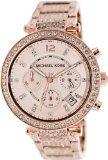 Michael Kors Rose Gold-Tone Glitz Parker Watch