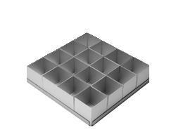 Alan Silverwood 16 piece Square Multi Cake Pan Set 2'' by Alan Silverwood