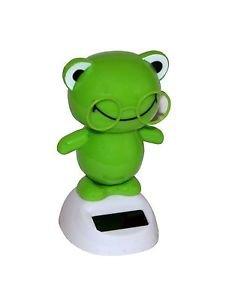2x Solar Wackel Figur Solar Figur Tanzende Figur Lustiger Frosch Auto Büro Deko