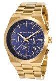 Michael Kors Men's MK8338 - Channing Gold/Navy Watch - Navy Water Resistant Bracelet