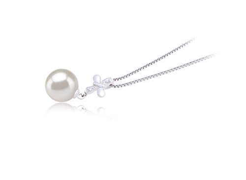 Taylor White 9-10mm AAAA Quality Freshwater 925 Sterling Silver Cultured Pearl Pendant For Women by PearlsOnly (Image #1)
