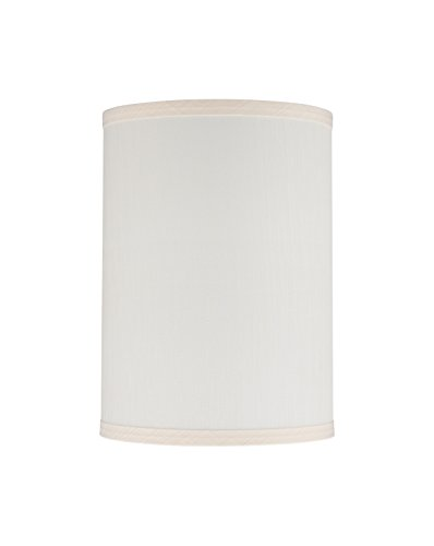 Aspen Creative 31025 Transitional Hardback Drum (Cylinder) Shape Spider Construction Lamp Shade in Eggshell, 8