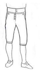 18th Century Button Fly Breeches Pattern