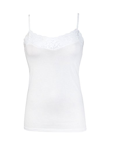 RJ Stretch Cotton Deluxe White Ladies Top (adjustable) 32-009