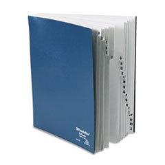 * Desk File, A-Z Index, Letter Size, Acrylic-Coated Pressboard, Black/Blue