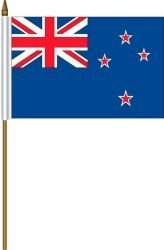 New Zealand NZ Small 4 X 6 Inch Mini Country Stick Flag Banner with 10 Inch  Plastic Pole    Great Quality Polyester     New