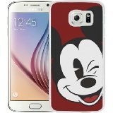Galaxy S7 Case,Mickey Mouse White Samsung Galaxy S7 Screen Phone Case Genuine and Beautiful Design (Beautiful Black Glass Buttons)