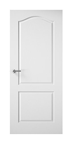 Premdor 19717 610 x 1981 x 35 mm 2-Panel Arch Top Textured Interior Door by Premdor