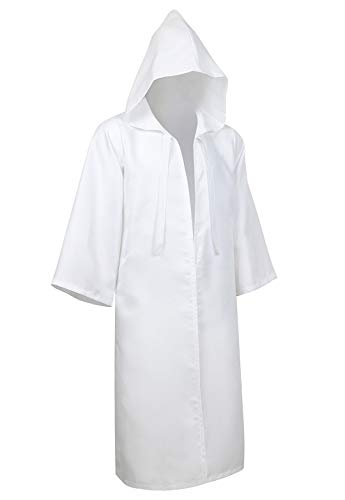 Full Length Unisex Tunic Hooded Robe Cloak Adult