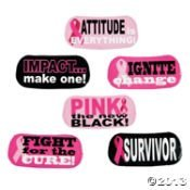 Fun Express 72 Cool Pink Ribbon/FACE Tattoos/6 Sheets of 12/Breast Cancer Awareness/Survivor/Pink is The New Black/Fundraiser/Party Favors/6 -