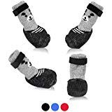 SMARTHING Dog Cat Boots Shoes Socks with Adjustable Waterproof Breathable and Anti-Slip Sole All Weather Protect Paws(Only for Tiny Dog) (S, ()