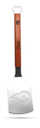 NFL St.Louis Rams Sportula, Heavy Duty Stainless Steel Grilling Spatula (Louis Rams End)