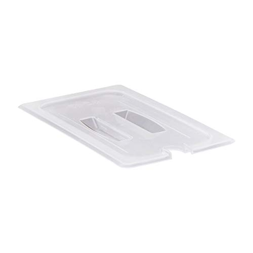 Cambro 30PPCHN190 Food Pan Handled Lid / Cover with Spoon Notch, 1/3 Size, 6 ()