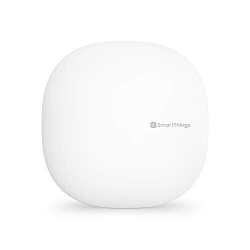 Samsung SmartThings Hub 3rd Generation [GP-U999SJVLGDA] Smart Home Automation Hub Home Monitoring Smart Devices - Alexa Google Home Compatible - Zigbee, Z-Wave, Cloud to Cloud Protocols - White ()