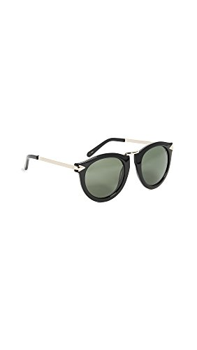 Karen Walker Women's The Harvest Sunglasses, Black, One Size (Karen Sunglasses)