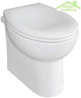 KARAG Pack WC de Mesa Paros de Porcelana con Tapa de Freno de ...